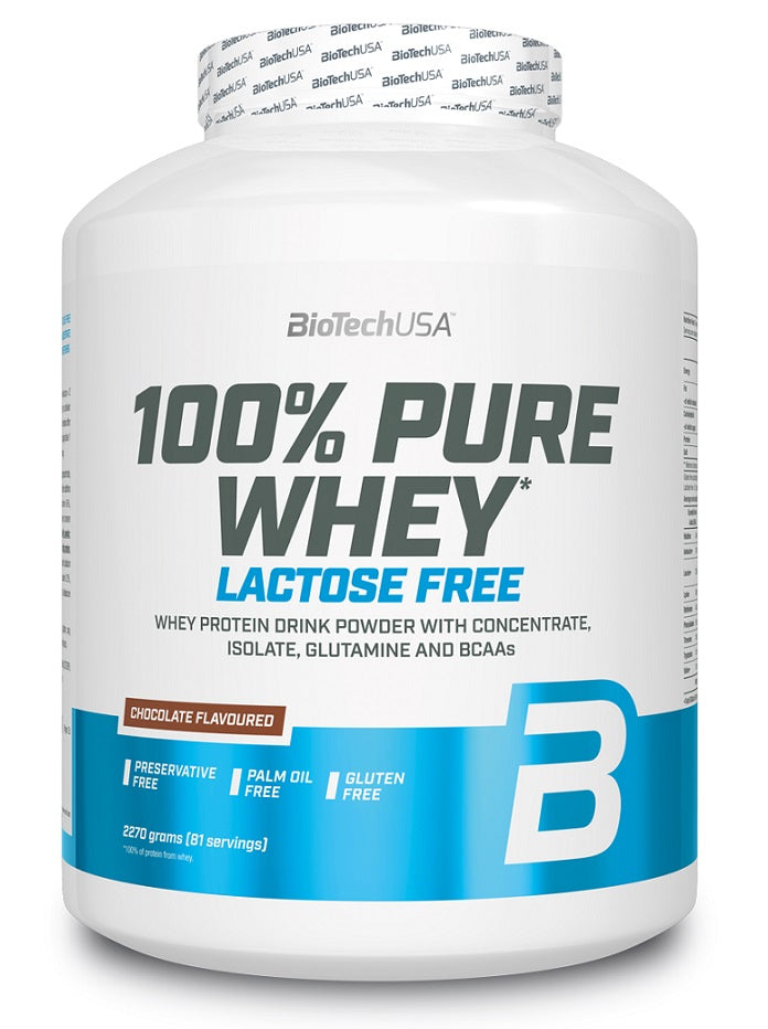 100% Pure Whey Lactose Free, Strawberry - 2270g