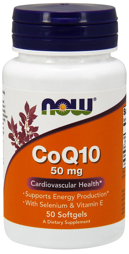 CoQ10 with Selenium & Vitamin E, 50mg - 50 softgels