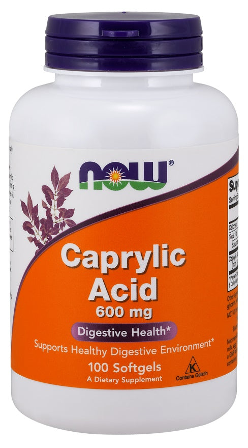 Caprylic Acid, 600mg - 100 softgels