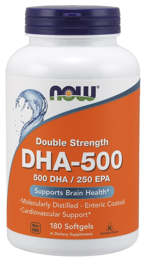 DHA-500, 500 DHA / 250 EPA - 180 softgels