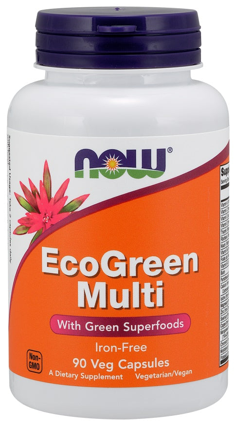 EcoGreen Multi, Iron Free - 90 vcaps