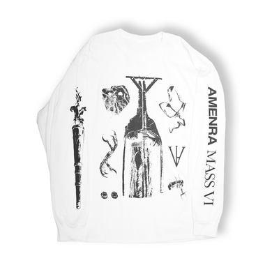 Amenra Mass VI - Longsleeve Symbols (full, white)