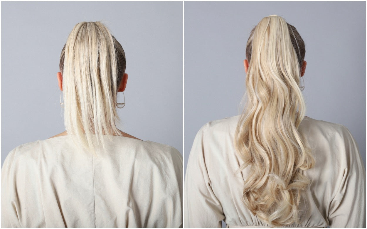 Glamista ponytail before and after