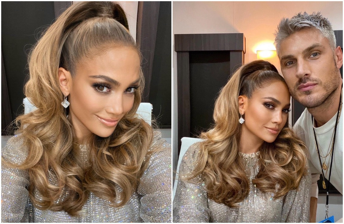 jlo hair for people's choice award with chris appelton