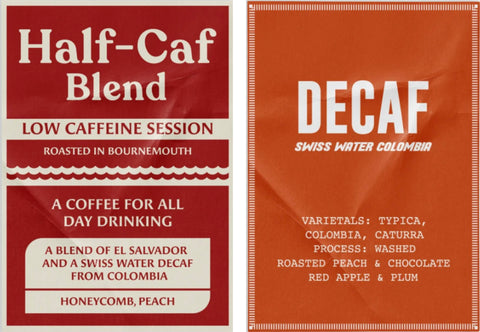 Bad Hand Coffee Subscription decaf and half-caf