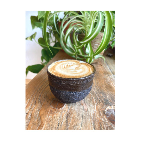 Homethrown ceramic coffee cup Gem Mordle Bad Hand Coffee