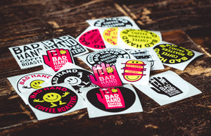 Bad Hand Coffee sticker pack