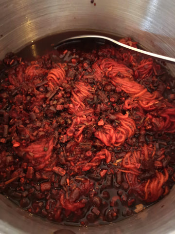 Extracting vibrant red from Madder Root