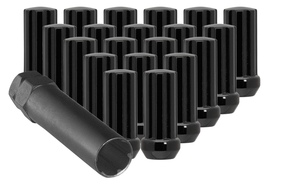 (32)BLACK 7 SPLINE NUT 14X2.00 48mm HEIGHT