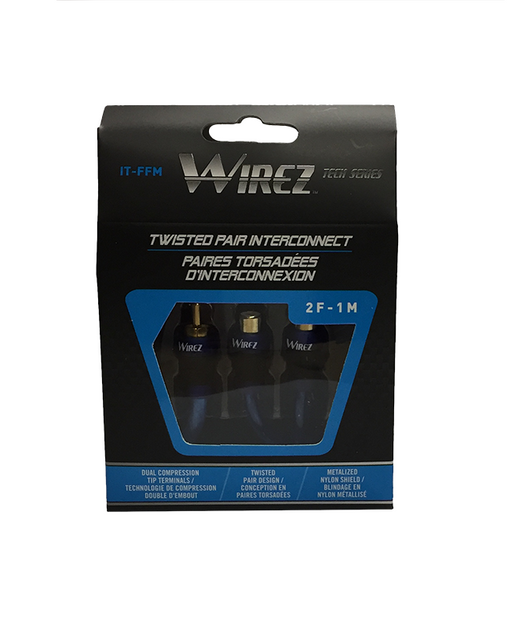 Wirez IT-FFM Female to Two Male Y Cable