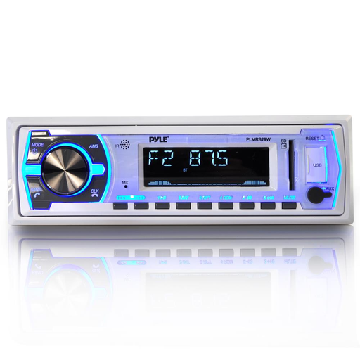 AM/FM/MP3/USB MARINE BLUETOOTH RECEIVER (WHITE)