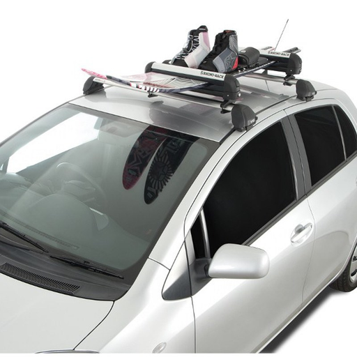 Rhino-Rack 562U - Locking Roof Mount 2 Ski, 1 Snowboard, or Fishing Rod Carrier