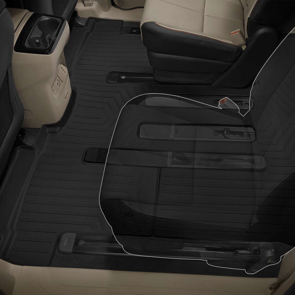Weathertech® • 4412954 • FloorLiner™ • Molded Floor Liners • Black • Second & Third Rows