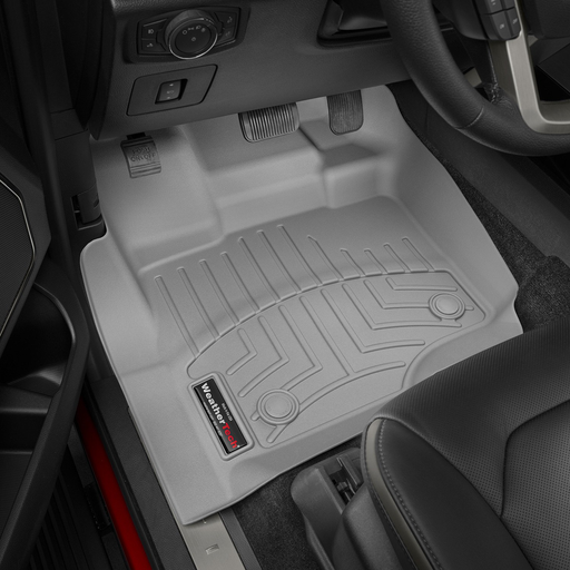 Weathertech® • 466971 • FloorLiner™ • Molded Floor Liners • Grey • First Row