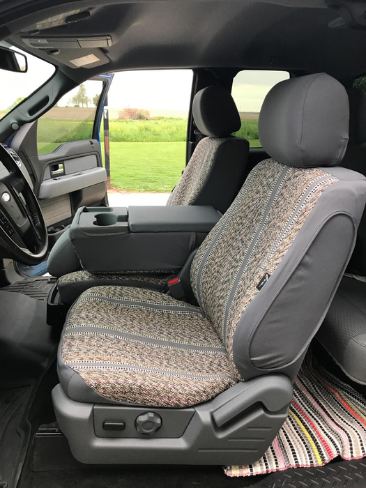 "FIA® • TR47-17 GRAY • Wrangler Series Original • ""Authentic Saddle Blanket"" custom fit truck seat covers"