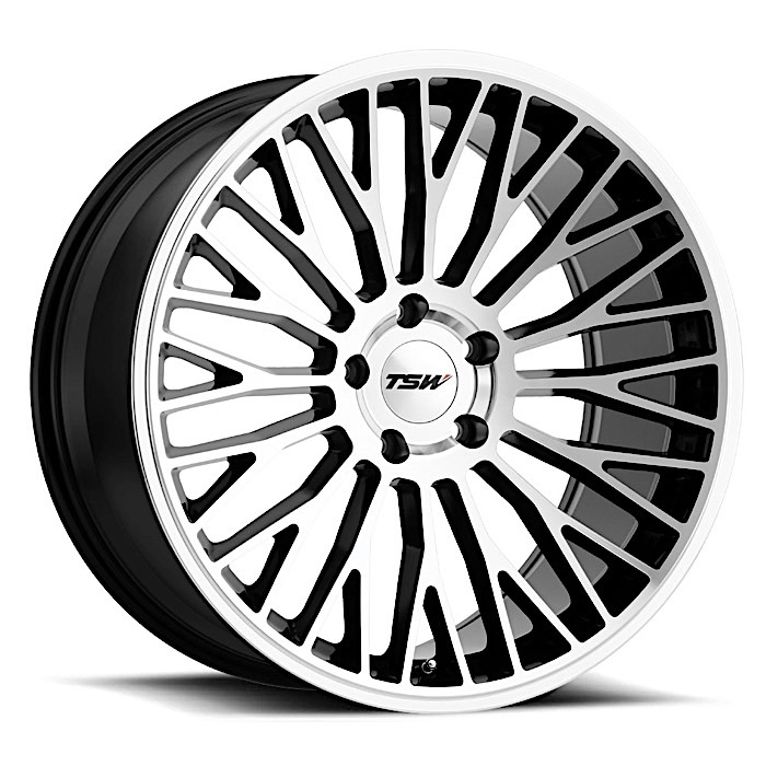 TSW® • 1985CAS155120B76 • Casino • Gloss Black with Mirror Cut Face • 19x8.5 5x120 ET15 CB76.1