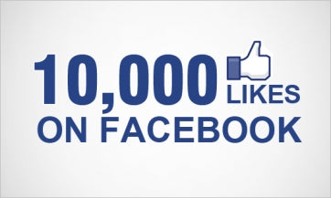 "10,000 FACEBOOK ""LIKES"" & T-SHIRT GIVEAWAYS"