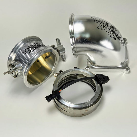 123mm V-Band Throttle Body + 123mm Billet Elbow Combo