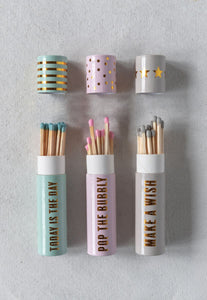 Set 3 Tube Matchbox and Safety Matches with Sayings