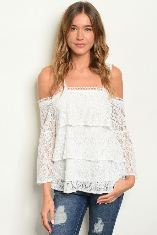 Off White Off Shoulder Top