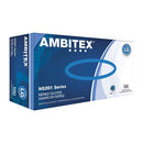 Ambitex N5201 Powder-Free Nitrile General-Purpose Gloves, Large, Blue, Box Of 100 Gloves