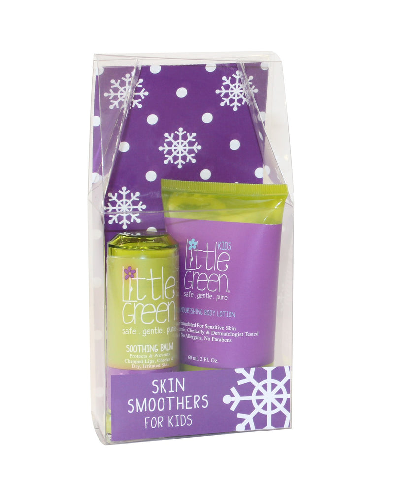 Skin Smoothers Holiday Duo for Kids..Nourishing Body Lotion for Kids 2fl. oz..Soothing Balm .45oz