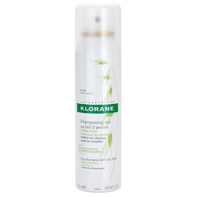 Klorane Gentle Dry Shampoo with Oak Milk - Aerosol 3.2oz