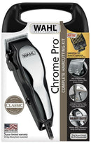 Wahl Chrome Pro Hair Clippers 17 Piece Complete Haircutting Kit