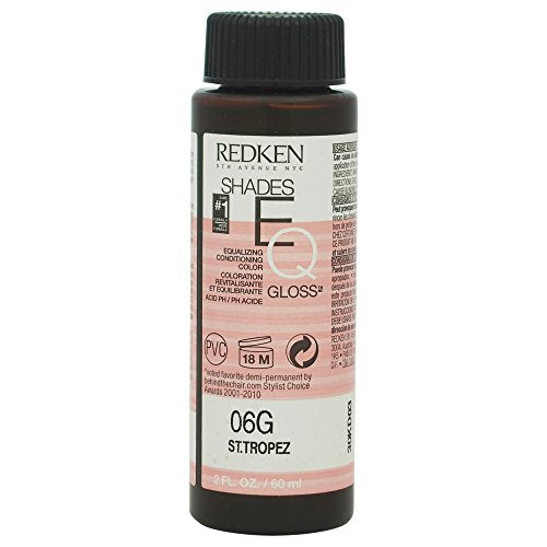 Redken Shades EQ Color Gloss, 06G St. Tropez for Women, 2 Ounce