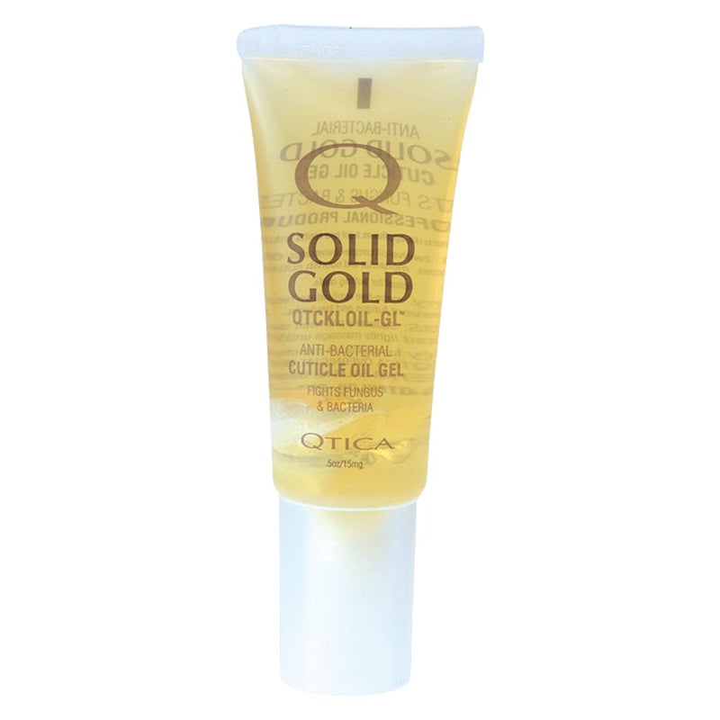 Nail Supplements: Qtica Solid Gold Cuticle Oil Gel - Size : 0.50 oz