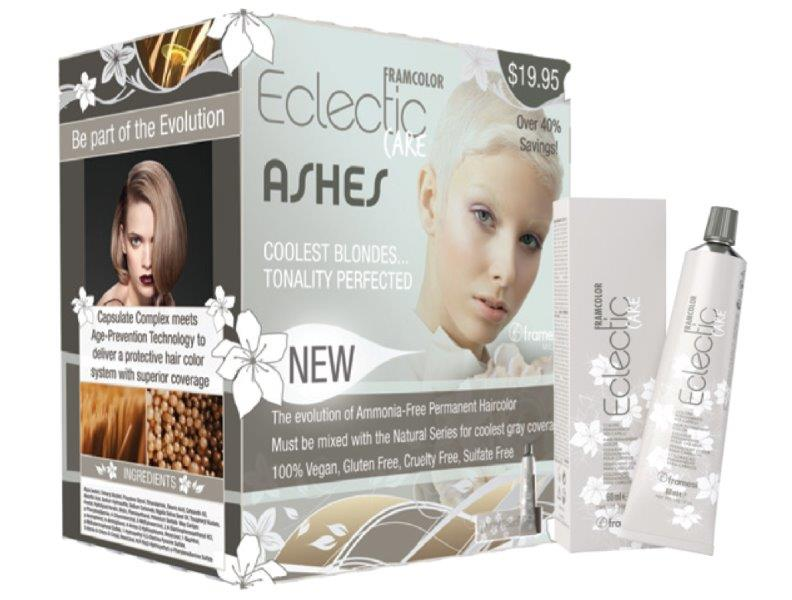 Eclectic Care ASH SERIES Prepack- (1) 2oz/ 60ml tube each of the following: 6.1 Dark Ash Blonde: 7.1 Med Ash Blonde: 8.1 Light Ash Blond: 10.61 Silver Blonde