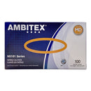 Ambitex NMD5101 Nitrile Gloves, Medium, Blue, 100ct