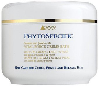 PHYTOSPECIFIC Curly, Frizzy, And Relaxed Hair Vital Force Cream Bath With Sesame And Jojoba Oils Conditioning Mask 6.75 Oz