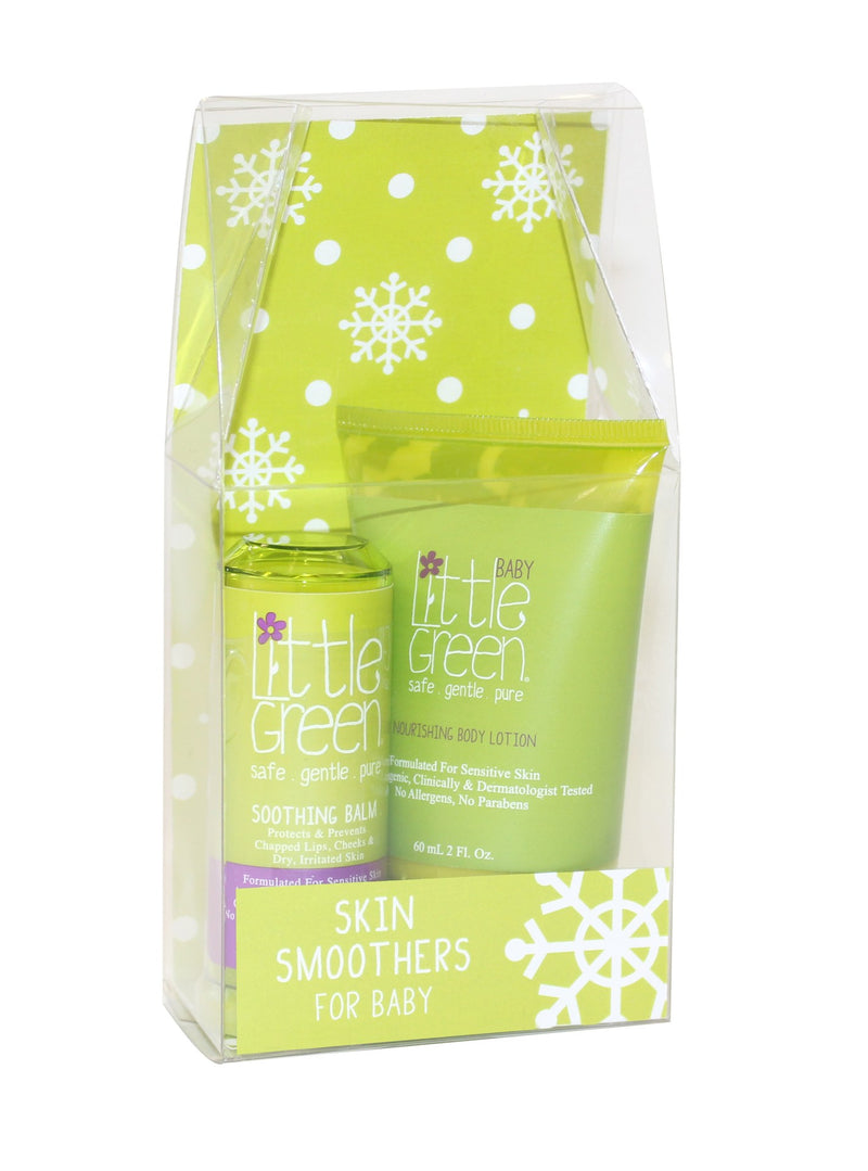 Skin Smoothers Holiday Duo for Baby..Nourishing Body Lotion for Baby 2fl. oz..Soothing Balm .45oz