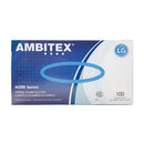 Ambitex NLG200 Nitrile Gloves, Large, Blue, 100ct