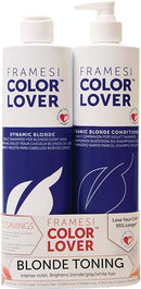 FRAMESI COLOR LOVER Dynamic Blonde Shampoo & Conditioner 16.9 oz Duo
