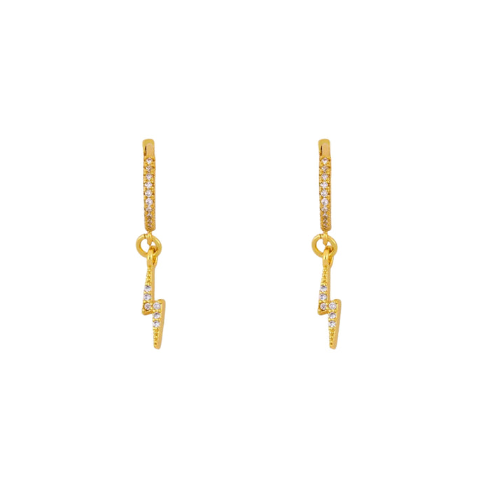 Kat Bolt Zircon Huggie Earrings