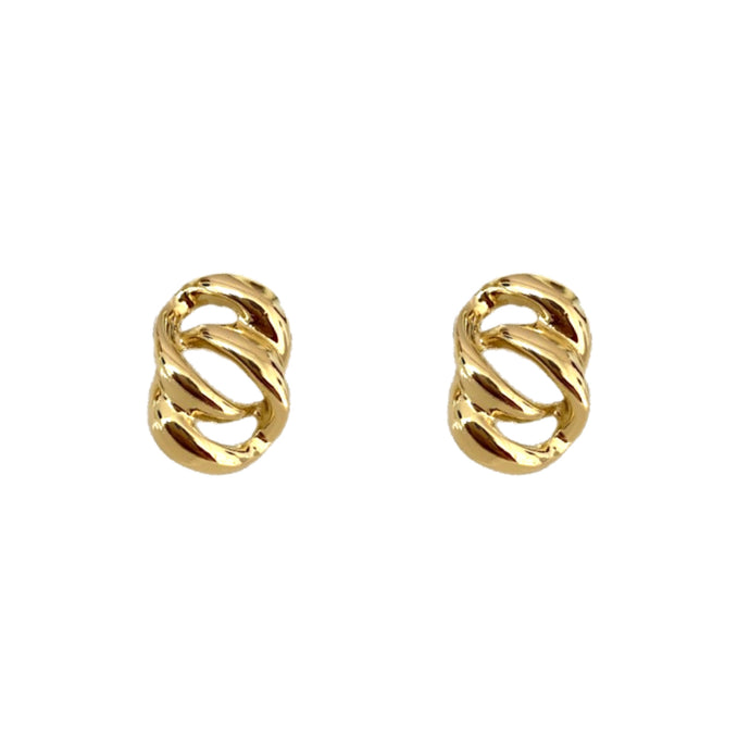 Jane Gold Stud Earrings