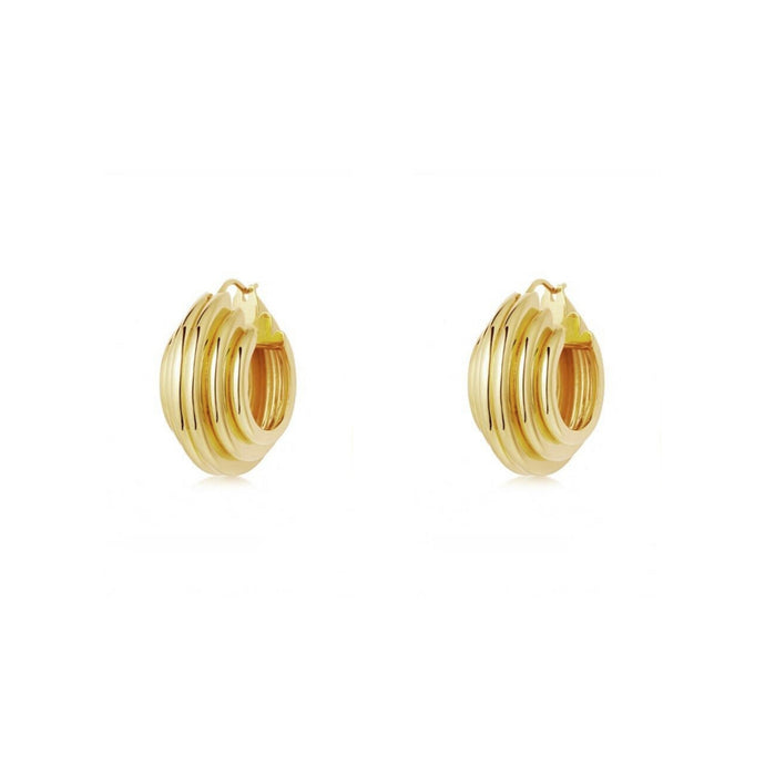 Corfu Gold Hoop Earrings