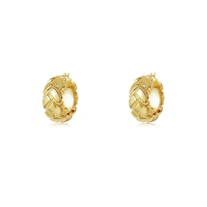 Santorini Gold Hoop Earrings