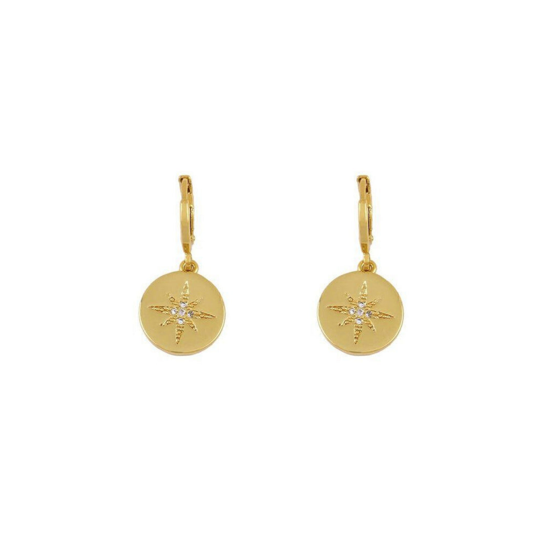 Sahara Star Pendant Huggie Earrings