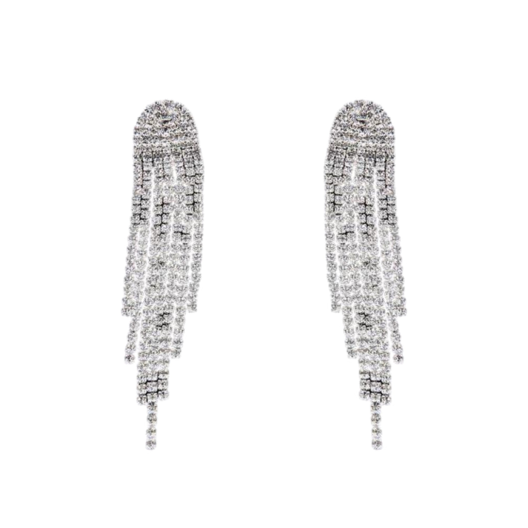 Seduced Zircon Chain Stud Earrings