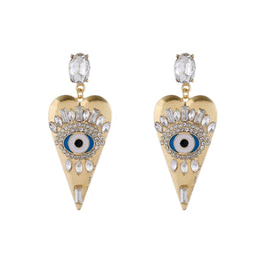 Vixen Heart Zircon Eye Stud Earrings