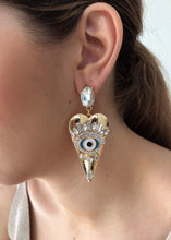 Load image into Gallery viewer, Vixen Heart Zircon Eye Stud Earrings