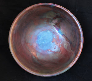 Raku Fired Barrel Racing Bowl