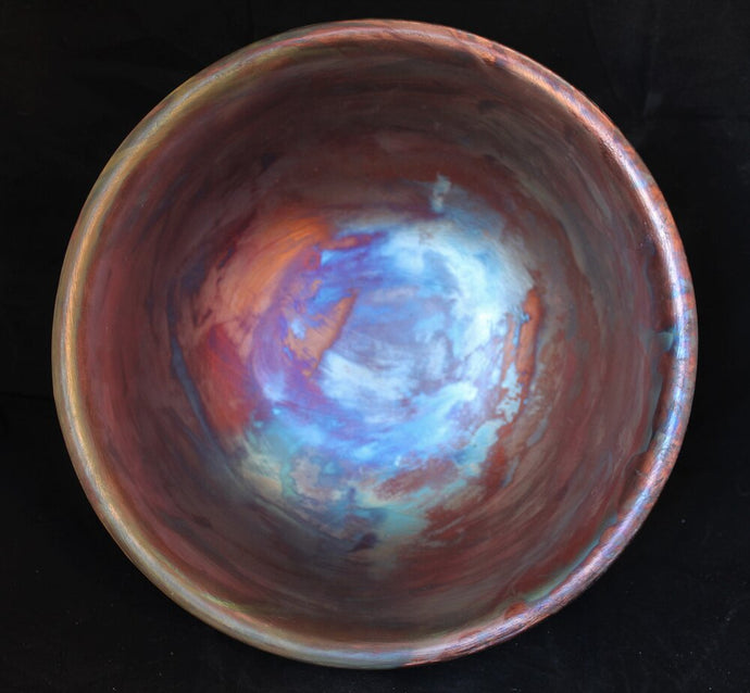 Raku Fired Barrel Racer Bowl