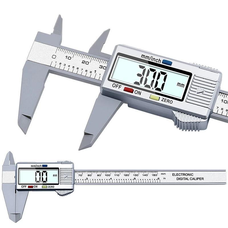 1 PC New 0-150mm 6inch LCD Digital Electronic Carbon Fiber Vernier Caliper Gauge Micrometer Measuring Tool VEP33 - AmericanGalore