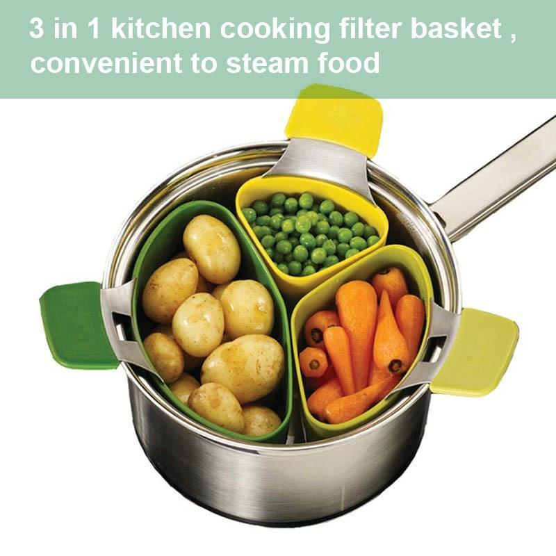 3 Set Stainless Steel Food Steamer - AmericanGalore