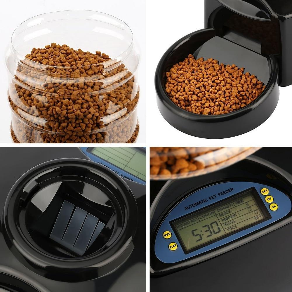 5.5L Automatic Pet Feeder With Voice Message Recording And LCD Screen - AmericanGalore