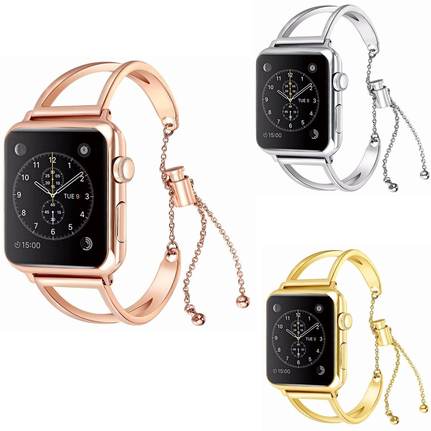 Apple Watch Bands Adjustable Stainless Steel Strap / iWatch series 3 2 1 (38mm/42mm) - AmericanGalore